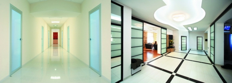 Межкомнатные раздвижные и стационарные перегородки из профиля Серии 90 на заказ для дома и офиса.